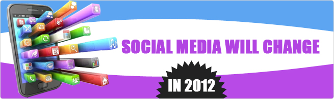 Some eye catchy ways social media will change in 2012